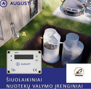 August ir ko biologiniai nuotekų valymo įrenginiai  +37067758600 Tvenkinių kasimas, valymas.