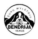 VILNIAUS M. ŠUNŲ MYLĖTOJŲ BENDRIJA - šunų registravimas į parodas, konsultavimas